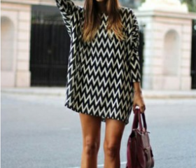 LOOSE CHIFFON LONG-SLEEVED DRESS