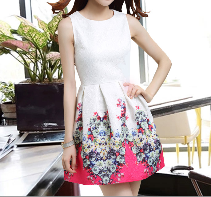 In The Spring Of 2015 The New Printing Cultivate One's Morality Show Thin Vest Skirt Restoring Ancient Ways 32