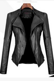 Qiu Dong PU Leather Motorcycle Jacket Fashion Ladies Leather Coat Of Cultivate One's Morality JM