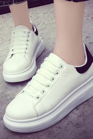 White Leather Sneaker, Sport Shoes