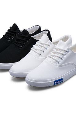 Male money low canvas shoes to help students with flat shoes casual shoes