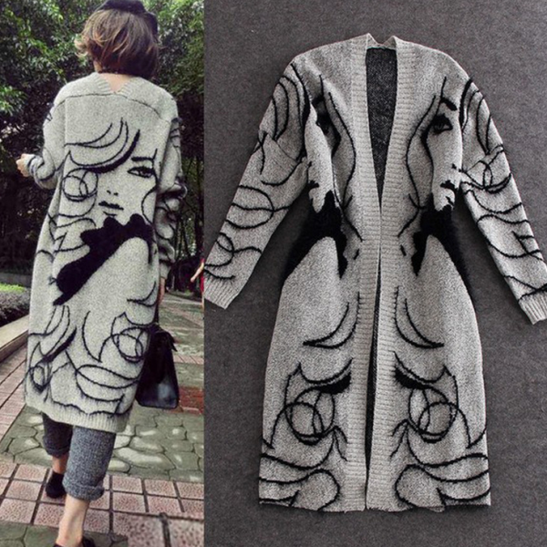 Fashion Design Knitted Coat